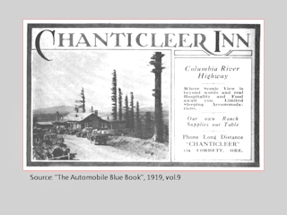Advertisement, Chanticleer Inn, 1919