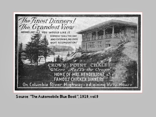 Advertisement, Crown Point Chalet, 1919