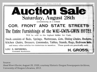 Historic Advertising, Hood River Glacier, August 26, 1920, click to enlarge