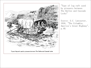 Image, Log raft used by pioneers, click to enlarge
