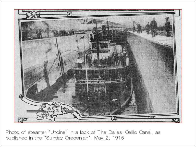 Photo of steamer Undine, Sunday Oregonian, May 2, 1915