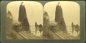 Stereocard, Pillars of Hercules, Oregon, 1902, click to enlarge