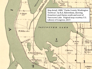Image, 1888, Map detail, Vancouver Lake,  click to enlarge