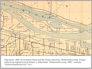 Map, 1889, Multnomah County, Habersham, click to enlarge