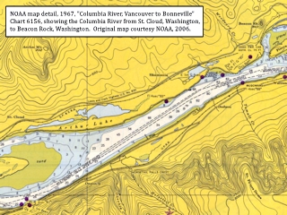 NOAA Chart detail, Arthur Lake, click to enlarge
