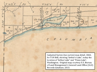 Cadastral Survey Map detail, Arthur Lake, click to enlarge