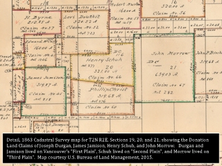 Image, 1860 Cadastral detail, T2N R2E, Vancouver, Washington, click to enlarge