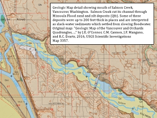 Image, 2018, Geologic Map detail, Salmon Creek, Vancouver, Washington, click to enlarge