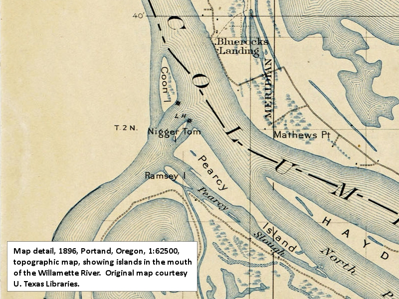The Columbia River Belle Vue Point - Willamette river on map of us