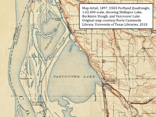 Image, 1897, topographic map, Shillapoo Lake and Vancouver Lake,  click to enlarge