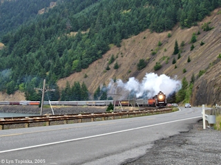 Image, 2005, SP&S Excursion Train, click to enlarge
