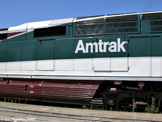 Image, 2005, Amtrak at Vancouver Station, click to enlarge