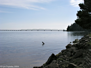 Image, 2004, Astoria-Megler Bridge, from near Megler, click to enlarge