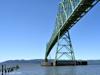 Image, 2004, Astoria-Megler Bridge, from Astoria, Oregon, click to enlarge