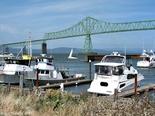 Image, 2003, Astoria-Megler Bridge, from Astoria, Oregon, click to enlarge
