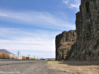 Image, 2005, Basalt Flow, near Celilo, Oregon, click to enlarge