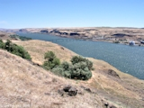 Image, 2003, Columbia River looking upstream at Biggs Rapid Bridge, from Maryhill Museum