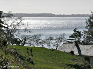Image, 2005, Columbia River from Fort Columbia State Park, click to enlarge
