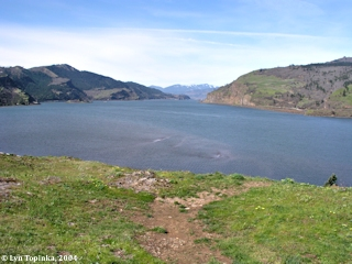 Image, 2004, Columbia River from upstream Mosier, click to enlarge