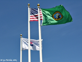 Image, 2005, Flags, Vancouver, U.S.A., and Washington State, click to enlarge