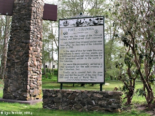 Image, 2004, entrance, Fort Columbia State Park, History Sign, click to enlarge