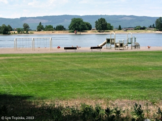 Image, 2003, Frenchman's Bar Park, looking towards Sauvie Island, click to enlarge