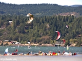 Image, 2005, Sailboarding and kiteboarding mouth of the Hood River, Oregon