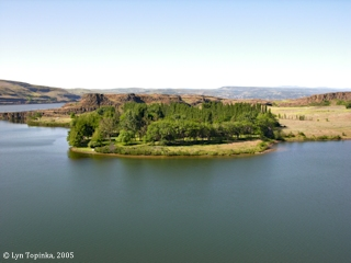 Image, 2005, Horsethief Lake State Park, from the east, click to enlarge