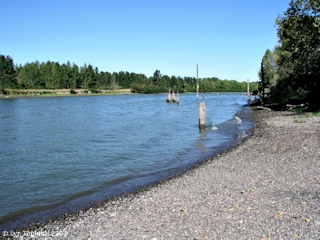 Image, 2003, Lake River from Ridgefield, Washington, click to enlarge