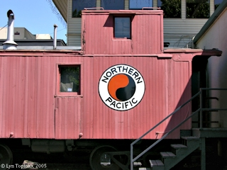 Image, 2005, Northern Pacific caboose, click to enlarge