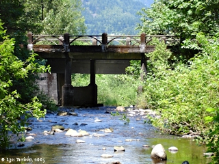 Image, 2005, Oneonta Creek, looking downstream, click to enlarge