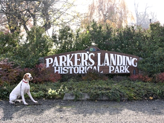 Image, 2004, Parkers Landing Historical Park sign, Washougal, Washington, click to enlarge