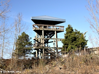 Image, 2004, Viewing tower for Kaiser Shipyard, Ryan Point, Washington, click to enlarge
