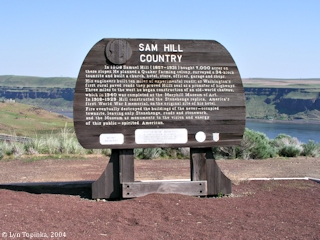 Image, 2004, Sam Hill Country sign, Maryhill, Washington, click to enlarge