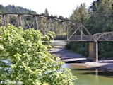 Image, 2005, Stark Street Bridge, Sandy River, Oregon, looking downstream