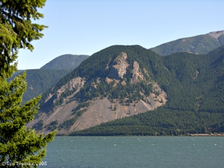 Image, 2005, Shellrock Mountain from Home Valley, click to enlarge