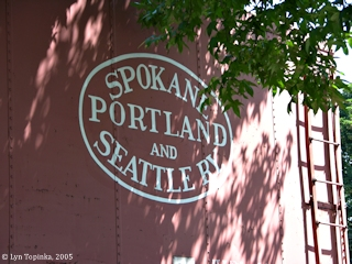 Image, 2005, Spokane, Portland, and Seattle railway logo, click to enlarge