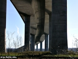 Images, 2004, Interstate 205 Bridge, from underneath
