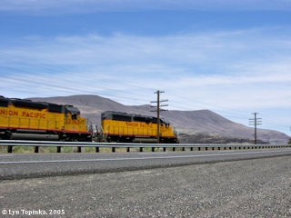Image, 2005, Union Pacific, with Haystack Butte, click to enlarge