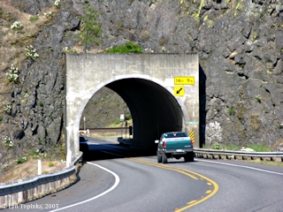 Image, 2005, Tunnel No.1, Washington State Highway 14, click to enlarge