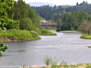 Image, 2005, Washougal River from Washington Highway 14, click to enlarge