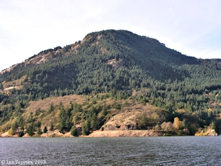Image, 2003, Cook Hill from Drano Lake, click to enlarge