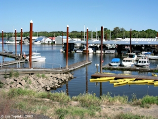 Image, 2003, Marina at Scappoose Bay, Oregon, click to enlarge
