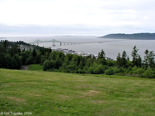 Image, 2004, Astoria-Megler Bridge, from Coxcomb Hill, click to enlarge