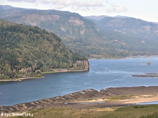 Image, 2004, Cape Horn as seen from Crown Point, Oregon, click to enlarge