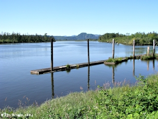 Image, 2004, Dock on Knappa Slough, Knappa, Oregon, click to enlarge