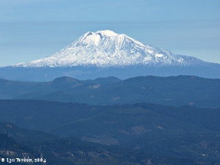 Image, 2004, Mount Adams from Larch Mountain, Oregon, click to enlarge