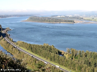 Image, 2004, Reed Island, Washington, as seen from Crown Point, Oregon, click to enlarge