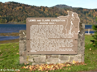 Image, 2004, Rooster Rock Lewis and Clark sign, click to enlarge