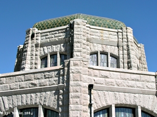 Image, 2004, Vista House roof detail, click to enlarge